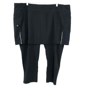 Athleta Skirted Capri Leggings Black Size 2X